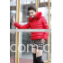 plus size down jacket with hood fur