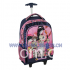 Trolley Backpack with Wheel for Girls