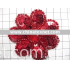 excellent red flower sequins