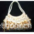 Pearl embroidery hand bag