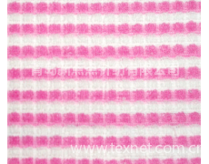 弹力彩条方格毛巾布 点击查看大图