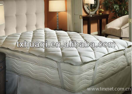 Hollow fiber filled mattress pad