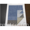 blue and white twill with bamboo joint